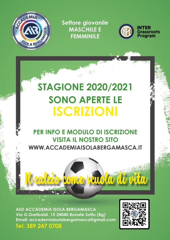 Iscrizioni stagione 2020/2021