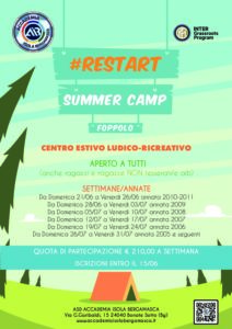 #RESTART SUMMER CAMP FOPPOLO 2020