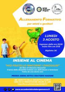 Lunedì 3 Agosto – Allenamento Formativo – AIB ti porta al Cinema